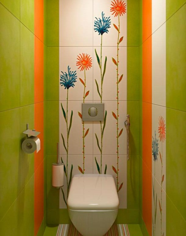 Интерьер в туалете своими руками 41
