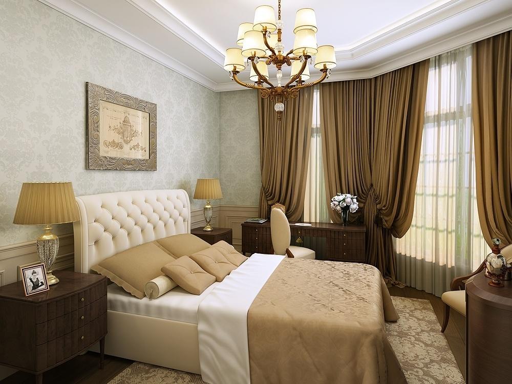 Slaapkamerontwerp in grijze beige kleuren. Voorbeelden van ...