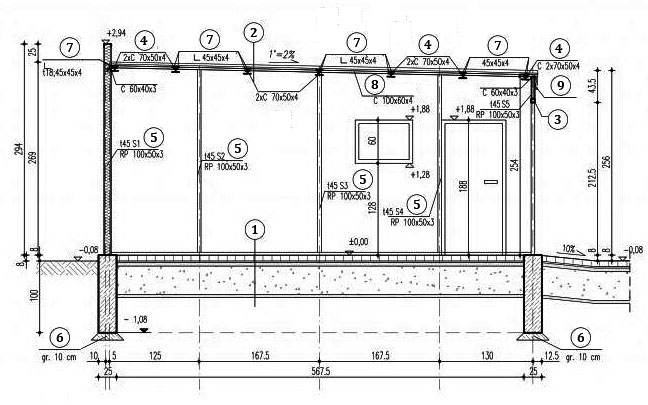 Схема гаража из профнастила своими руками 76