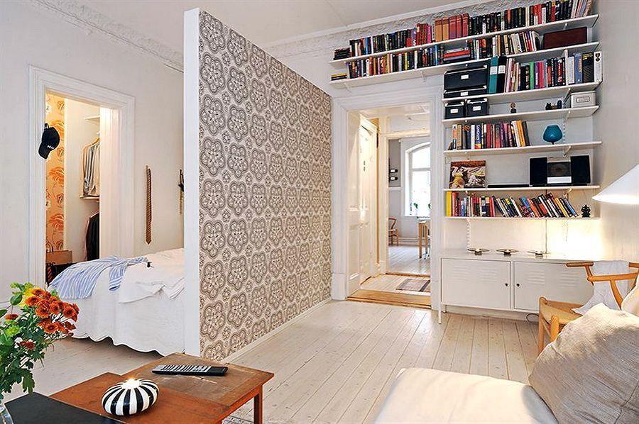 Hoe een grote kamer te verdelen. Stelling-scheidingswand voor de ...