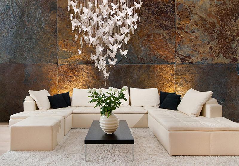 Leisteen muur affordable onderzetter stenen muur stuks with